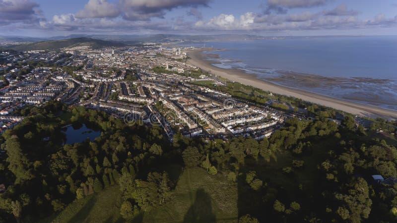 Gales do Sul da cidade de Swansea fotos de stock royalty free