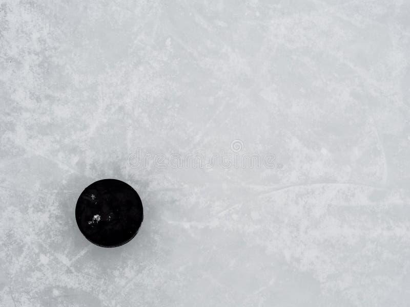 Galet d'hockey sur la glace photos stock