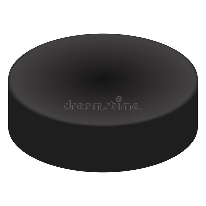 Galet d'isolement de hockey sur glace illustration stock