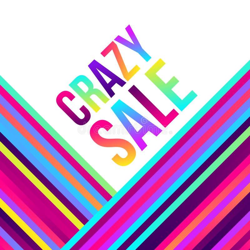 Galet försäljningsrengöringsdukbaner, massor av färgrika linjer, ram för text stock illustrationer