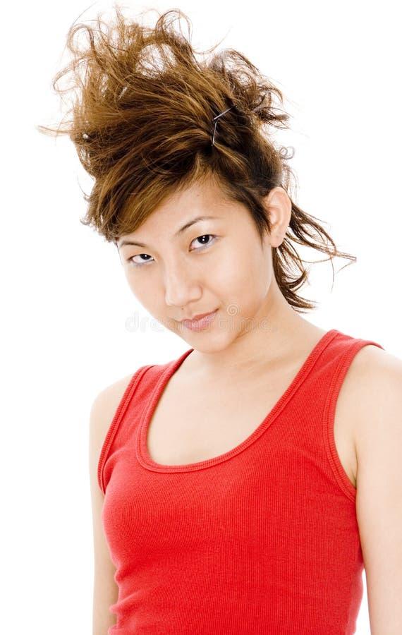 Galet hår royaltyfri fotografi