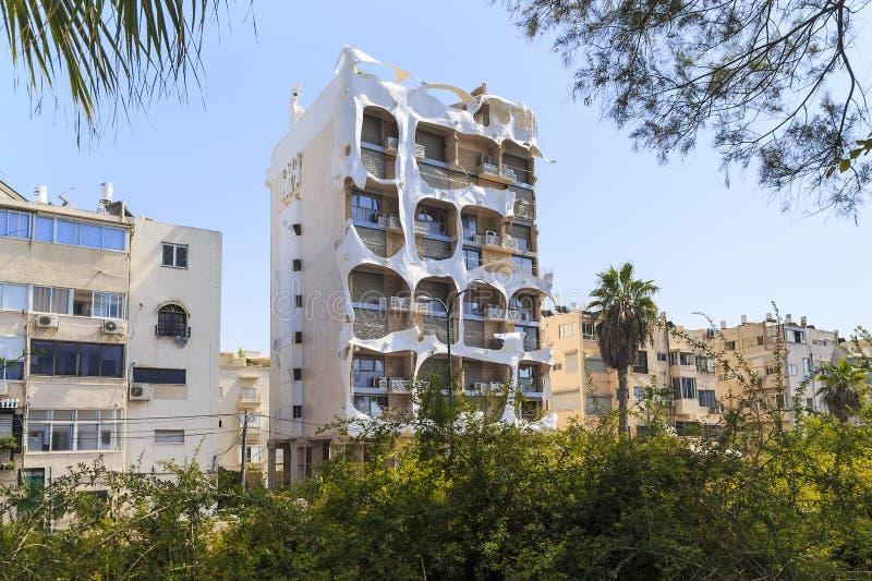 Galet hus, Tel Aviv, Israel royaltyfri foto