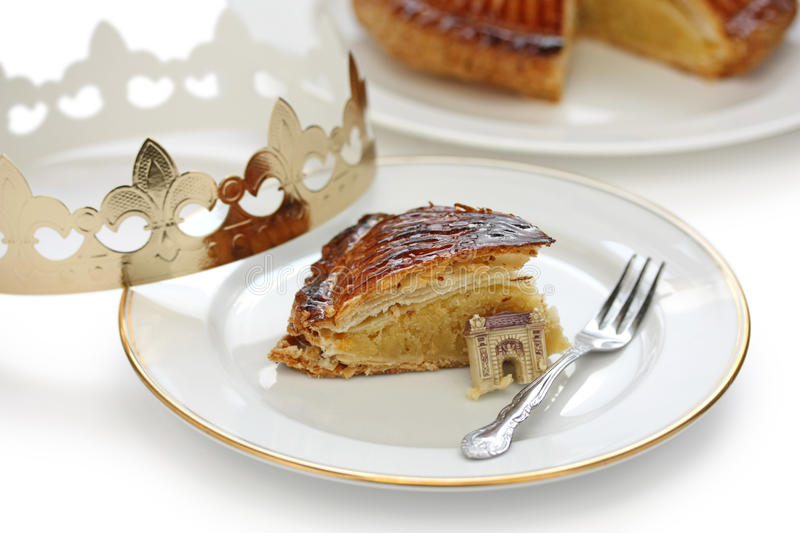 Galette des rois , king cake royalty free stock images