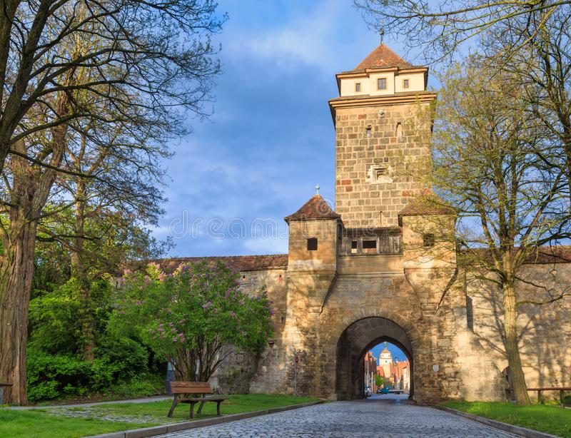 Galgentor Rothenburg ob der Tauber Old Town Bavaria Germany. Galgentor Gallows Gate entrance to the Old Town of Rothenburg ob der Tauber, Bavaria, Germany royalty free stock photo