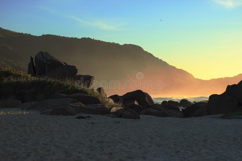 Galheta strandspår royaltyfria foton