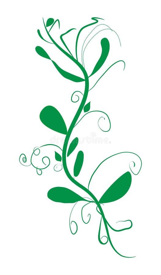Galho com ilustração abstrata do vetor das folhas ilustração royalty free