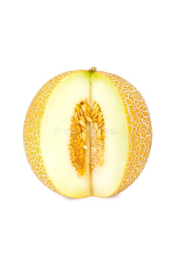 Galia melon z cięciem out składa zdjęcia royalty free