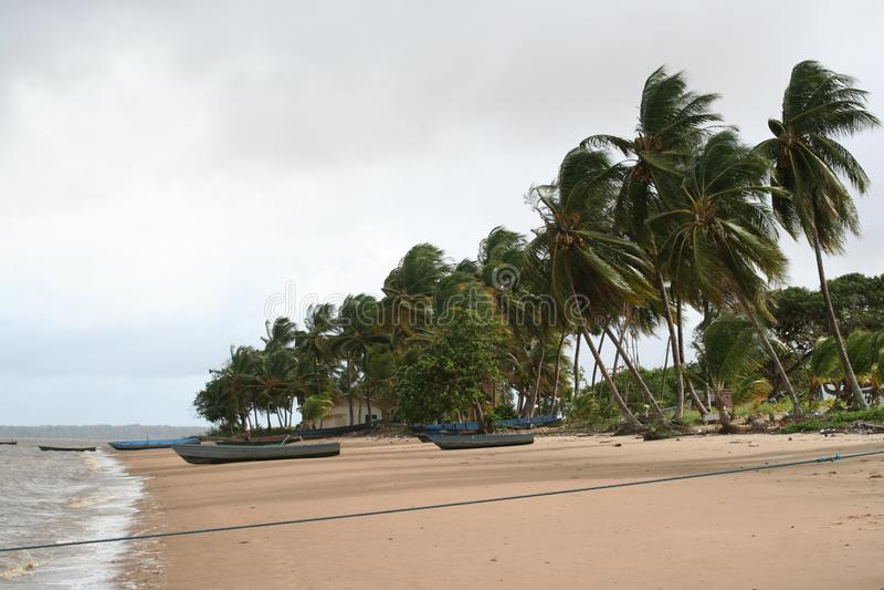 Galibi 1 du Surinam photographie stock
