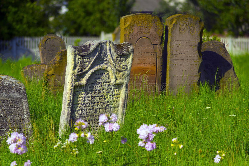 Galich, 18 wieków karaima cmentarz obrazy stock