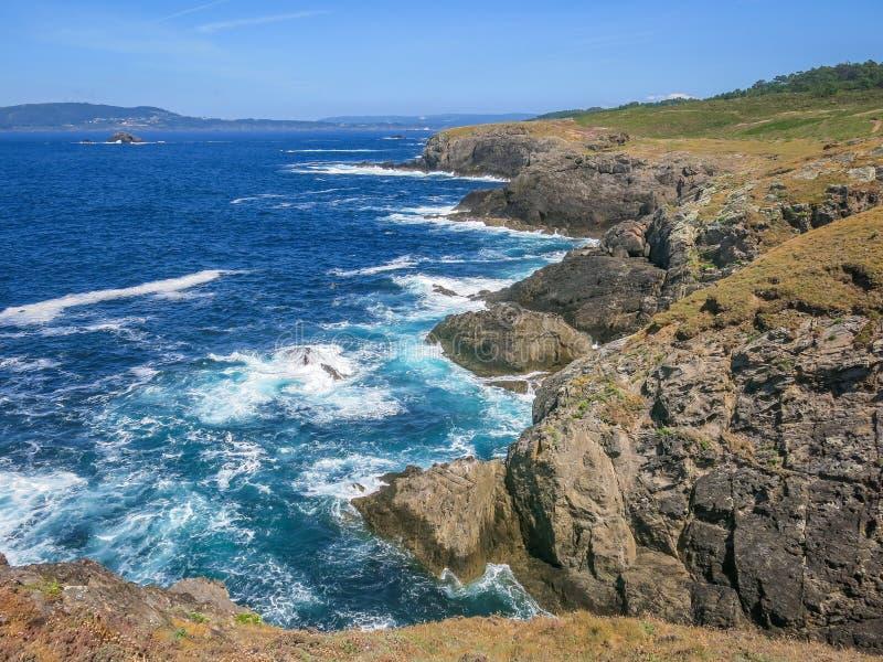 Scenic seascape at Seixo Branco, near Oleiros, A Coruna Province, Galicia royalty free stock image