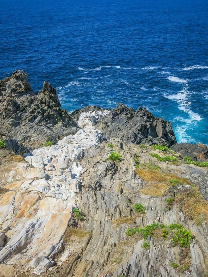 Scenic seascape at Seixo Branco, near Oleiros, A Coruna Province, Galicia stock photo