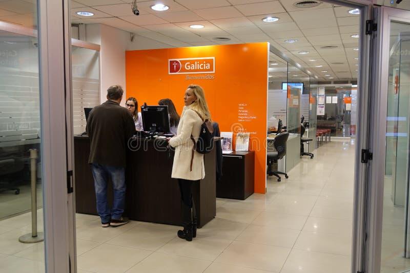 Galicia bank i Buenos Aires, Argentina royaltyfria bilder