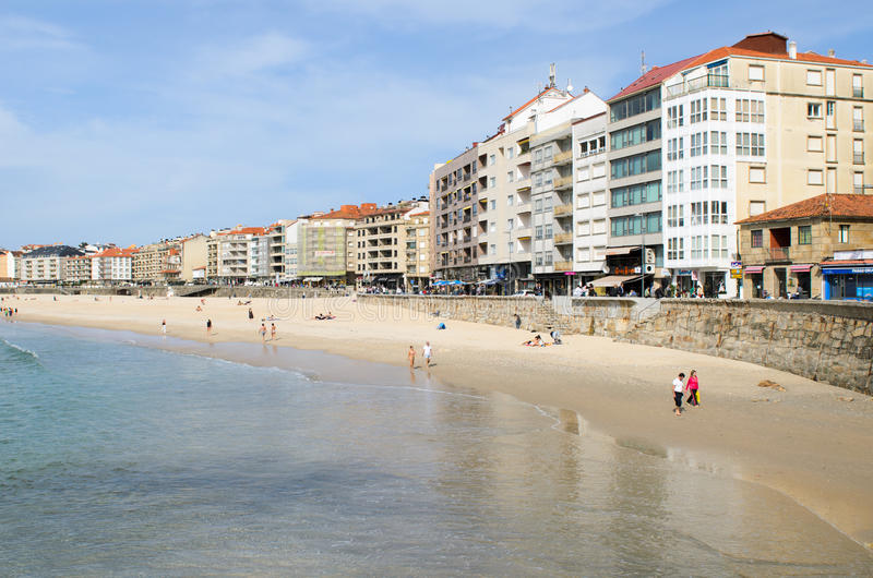 Galician beach stock image
