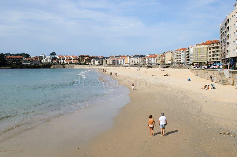 Galician beach stock images