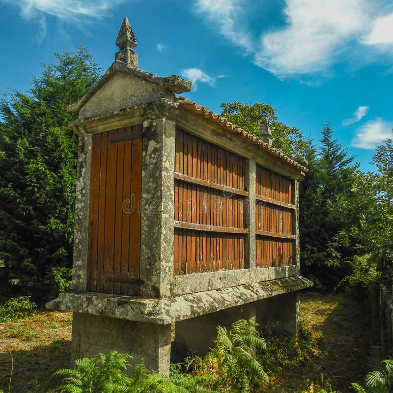 Galician horreo royalty free stock photos