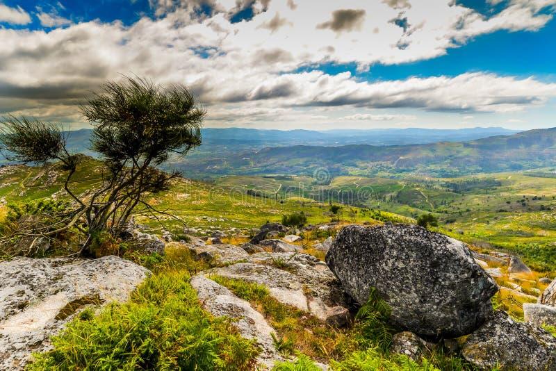 Galicisch Landschap dichtbij Arbo - Spanje royalty-vrije stock afbeelding