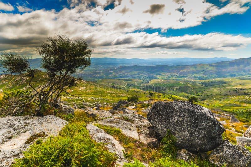 Galicisch Landschap dichtbij Arbo - Spanje stock afbeeldingen
