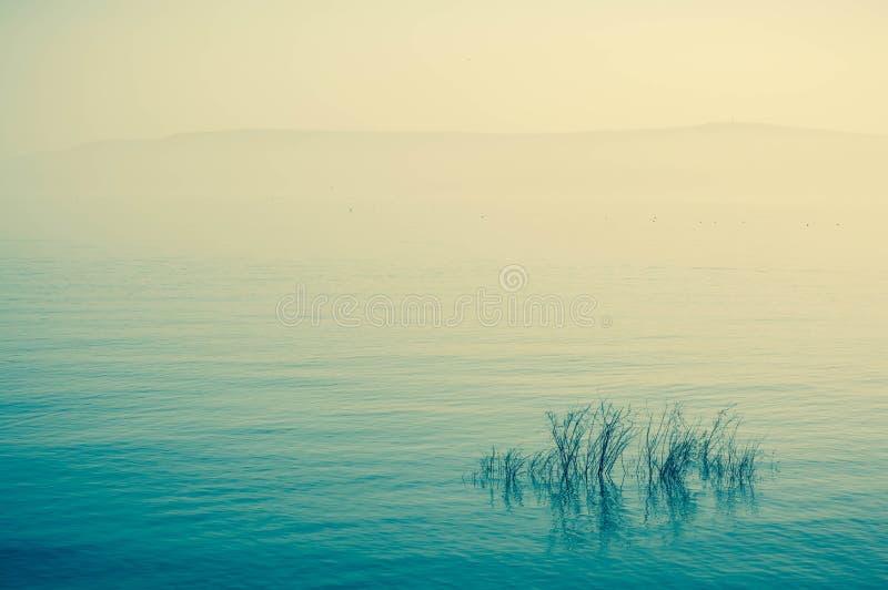 Galilean seaside morning panorama stock images