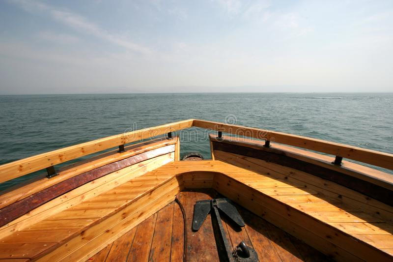 galilee łódkowaty morze fotografia stock