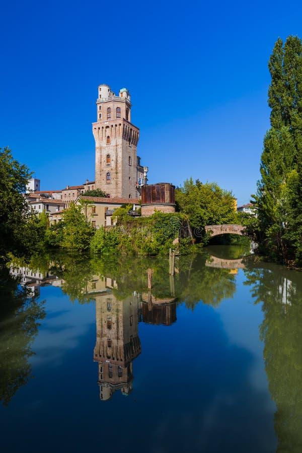 Galileo Astronomical Observatory La Specola Tower a Padova Ital fotografia stock libera da diritti