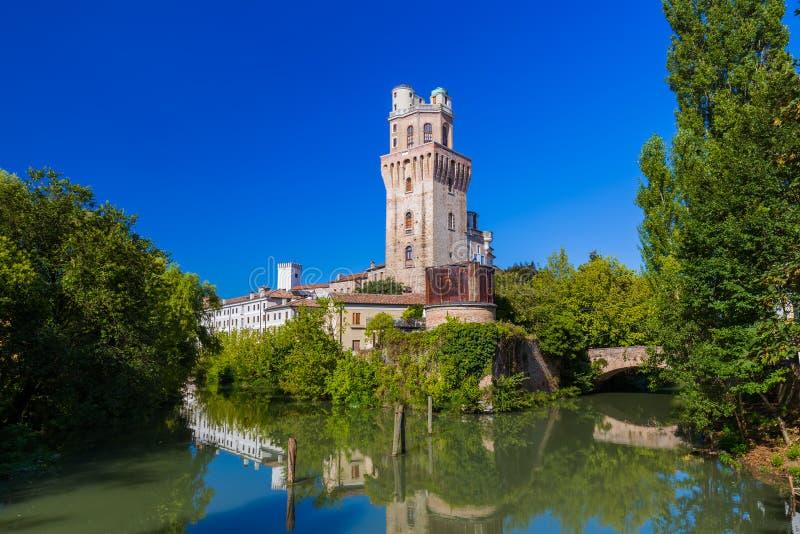 Galileo Astronomical Observatory La Specola Tower a Padova Italia fotografia stock libera da diritti