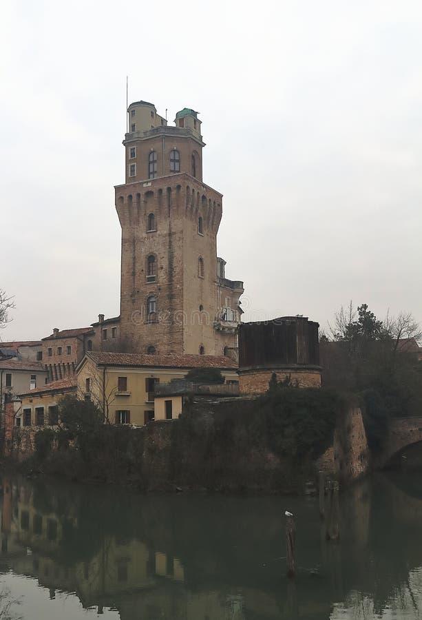 Galileo Astronomical Observatory La Specola Tower a Padova immagine stock libera da diritti