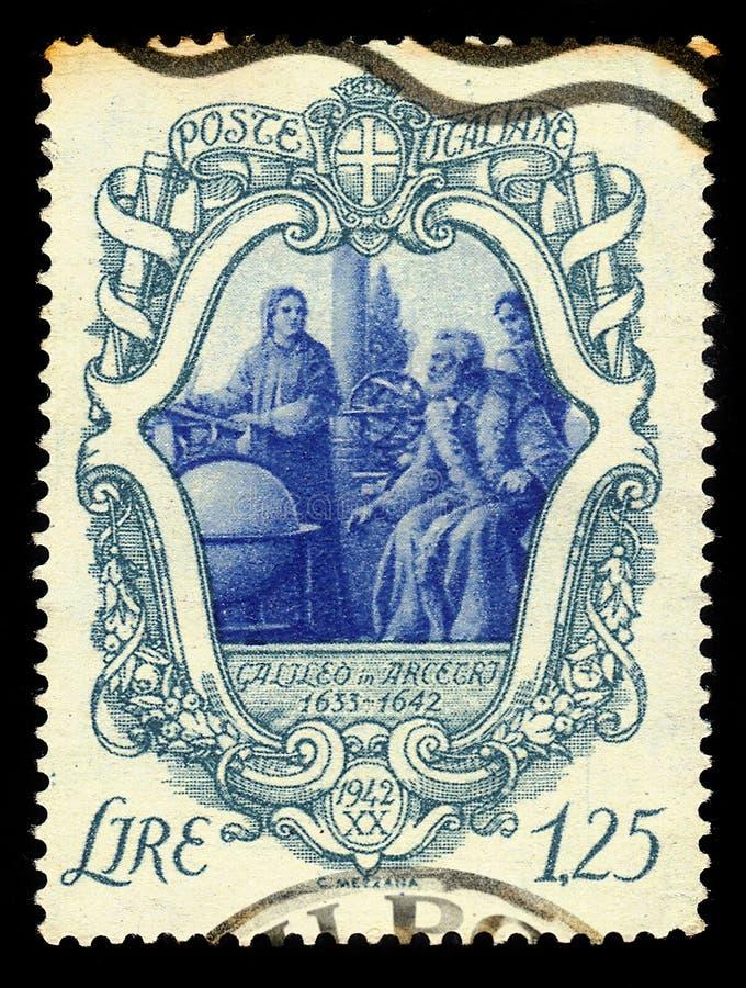 Galileo Galilei avec ses disciples dans Arcetri photographie stock libre de droits