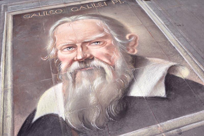 Galileo Galilei Portrait immagini stock libere da diritti
