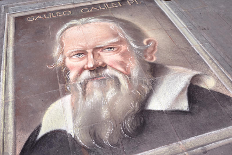Galileo Galilei Portrait royalty free stock images