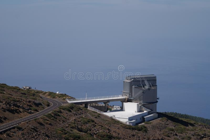 Galileo Optical Telescope La Palma royaltyfria bilder