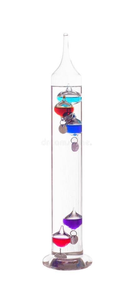 galileo termometer royaltyfri bild