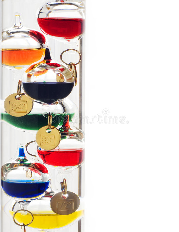 Galileo thermometer royalty free stock photography