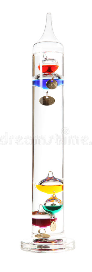 Free Galileo Thermometer On The White Royalty Free Stock Photography - 20910337