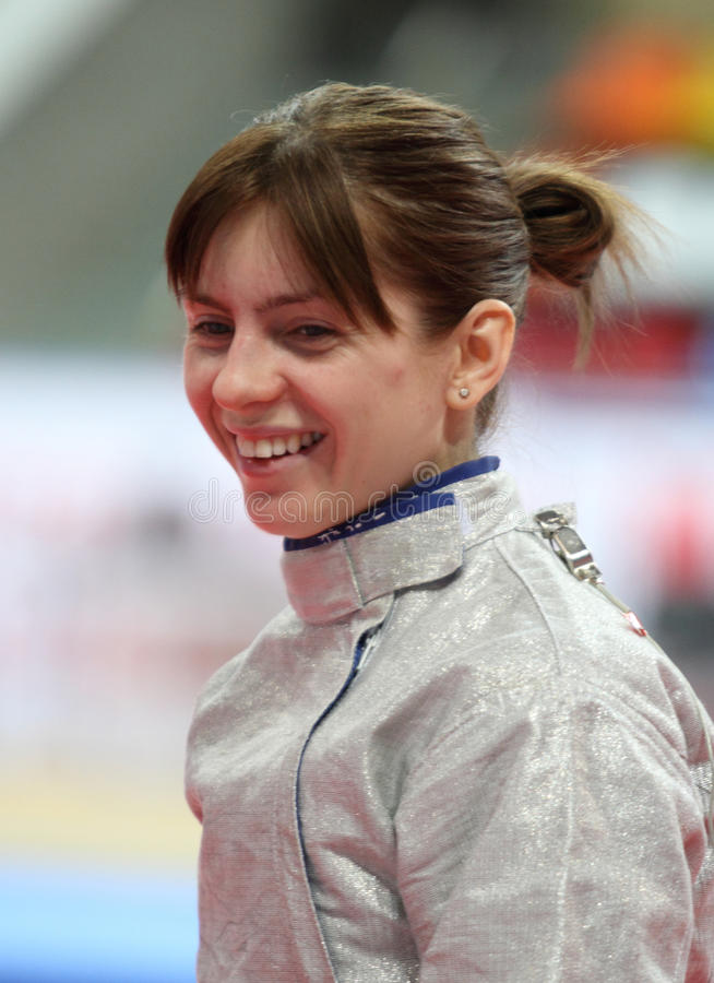 Galina Pundyk. Ukraine's Galina Pundyk compete at the 2010 RFF Moscow Saber World Fencing Tournament in Moscow, Russia stock images