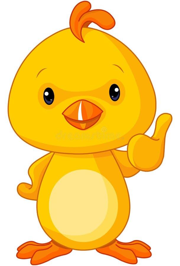 Galinha amarela bonito do bebê ilustração stock