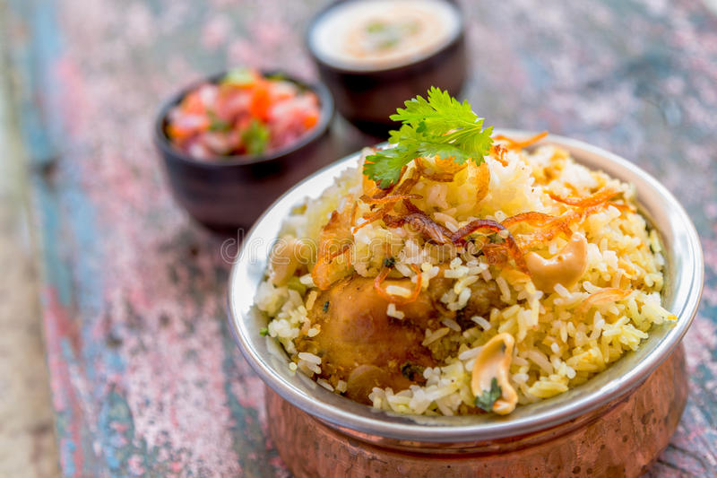 Galinha Biryani fotos de stock royalty free