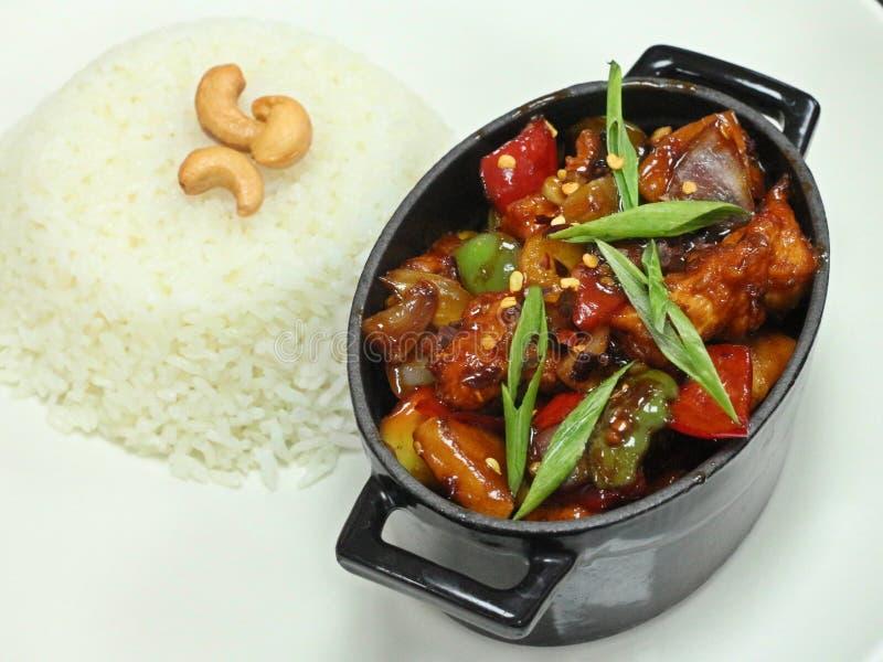 Galinha chinesa de Kung Pao fotos de stock