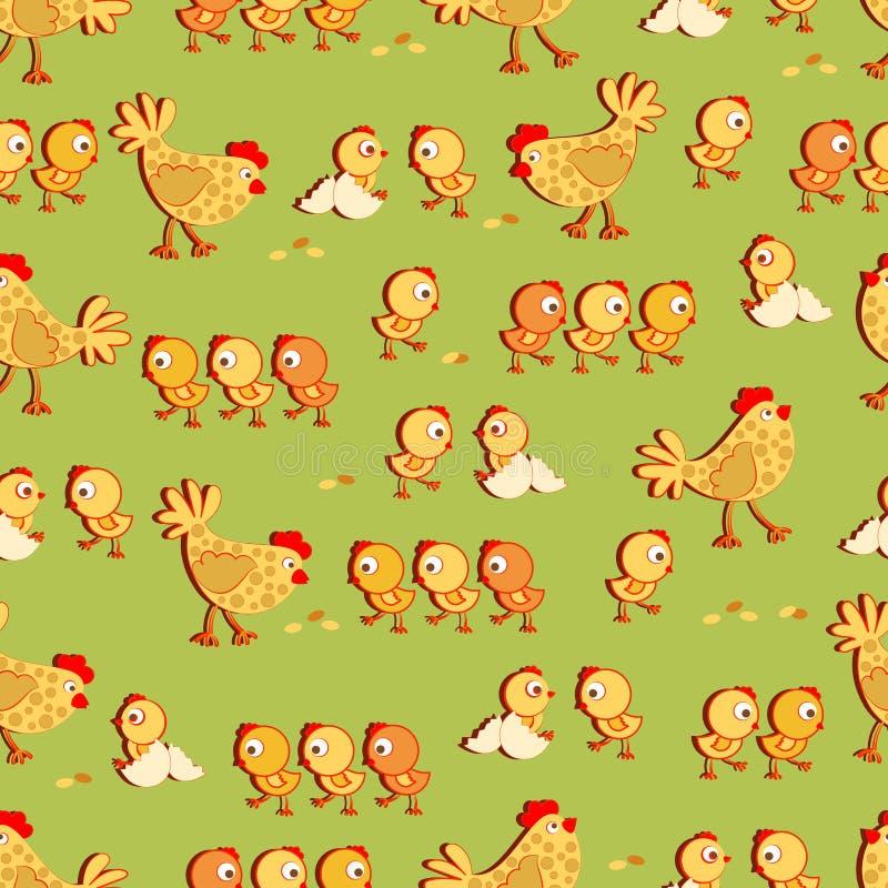 Galinha da galinha e galinhas pequenas ilustração royalty free