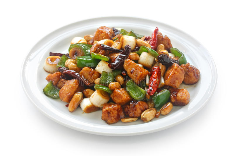 Galinha do pao de Kung, alimento chinês imagem de stock