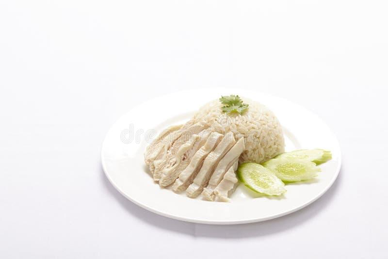 Galinha do vapor com arroz foto de stock royalty free