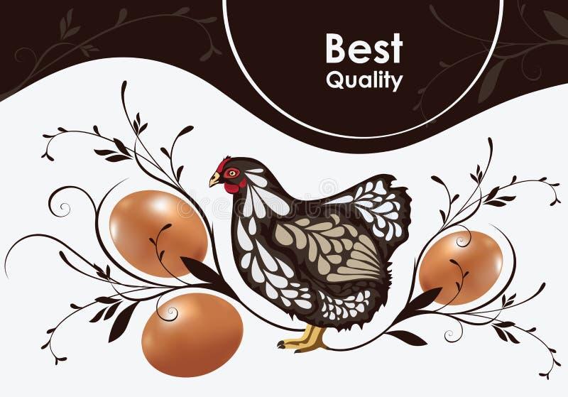 Galinha e ovos ilustração royalty free