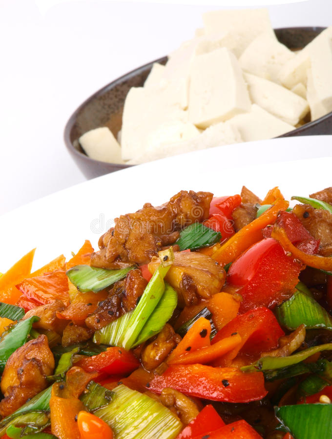 Download Galinha Fritada Chinesa Com Vegetais. Imagem de Stock - Imagem de gourmet, cozinha: 12812621