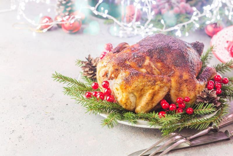 Galinha ou peru para o Natal foto de stock