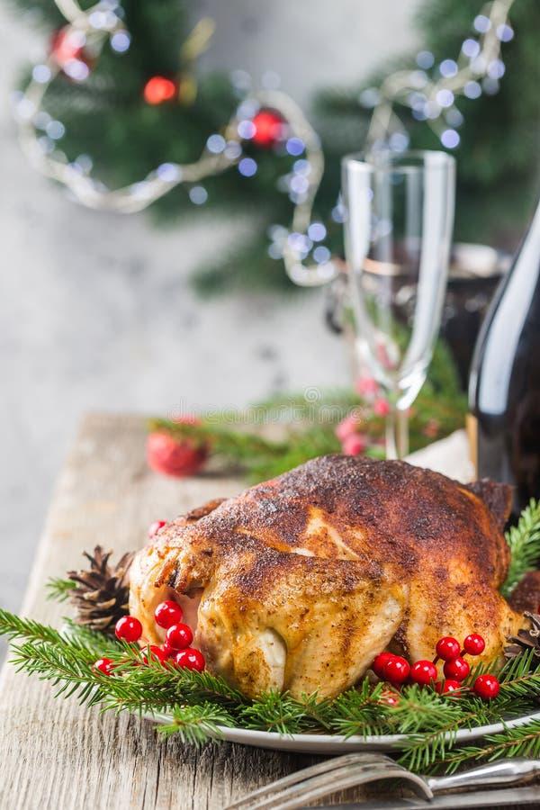 Galinha ou peru para o Natal fotografia de stock