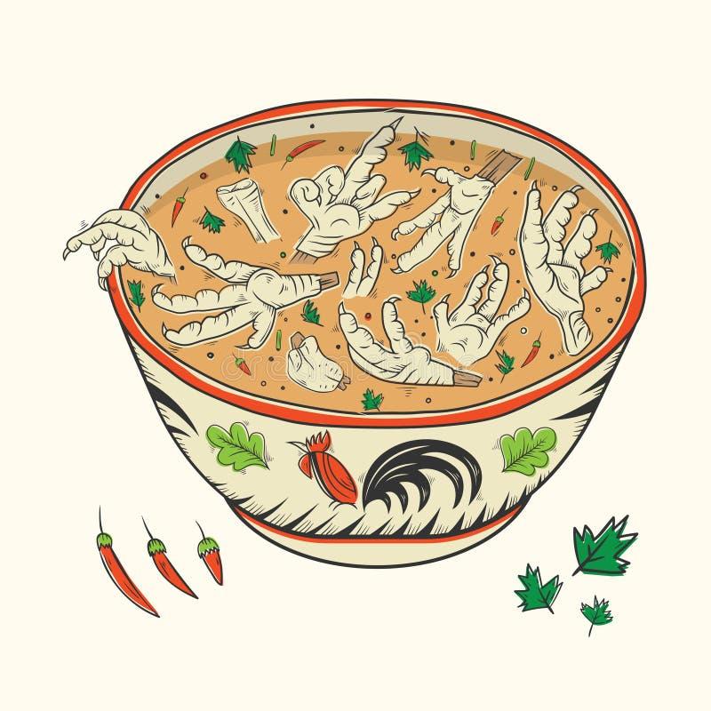 Galinha Paw Soup fotografia de stock royalty free