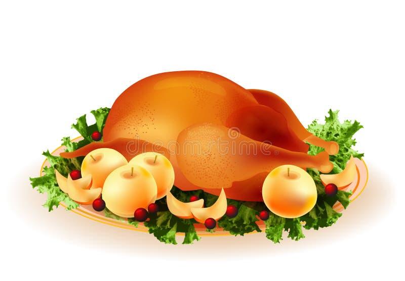 galinha roasted ilustração stock