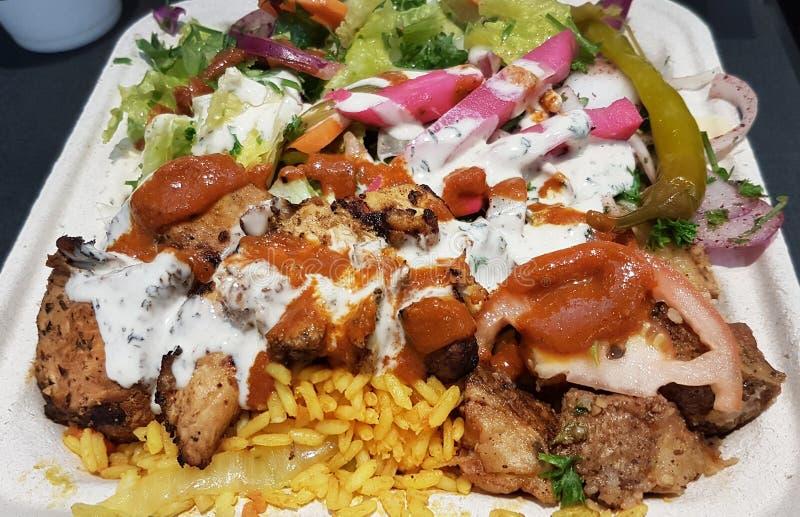 Galinha Shawarma em Arroz imagens de stock