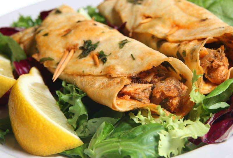 Galinha Tikka Kebabs imagens de stock