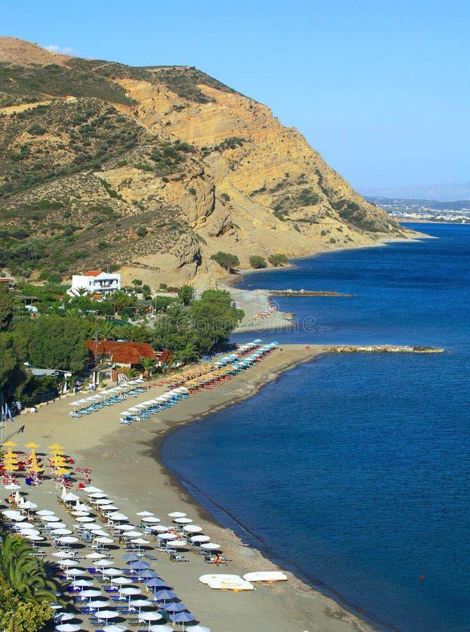 galini Крита пляжа agia стоковое изображение rf