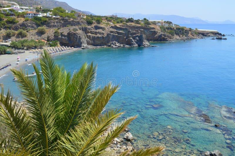 Galini strand crete Grekland royaltyfri fotografi